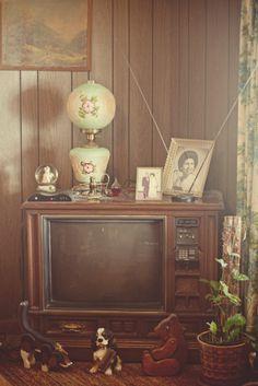 Vintage living room. Reminds me of my childhood friends' homes