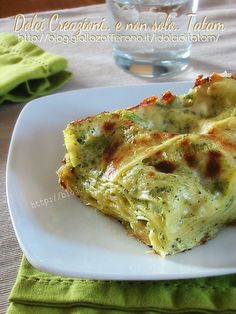 pasta Lasagne in bianco con broccoli e scamorza Wine Recipes, Pasta Recipes, Cooking Recipes, Italy Food, Best Italian Recipes, Italian Dishes, Broccoli, Crepes, Pasta Dishes