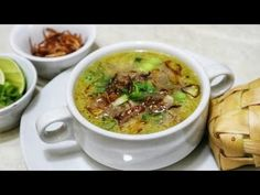 Indonesian Food, Indonesian Recipes, China Food, Cheeseburger Chowder, Food And Drink, Meat, Soups, Youtube, Chinese Food