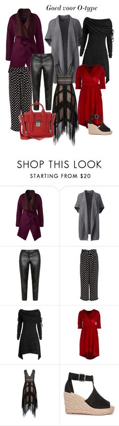 """""""Kleding voor het O-type"""" by kates-collection on Polyvore featuring mode, Lands' End, Samoon, River Island, 3.1 Phillip Lim en plus size dresses"""