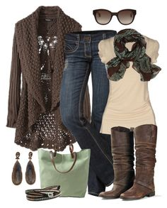 """Brown 'n Mint"" by smores1165 ❤ liked on Polyvore featuring See Thru Soul, Fornarina, Bohemia, Golden Goose, James Grey and Orla Kiely"