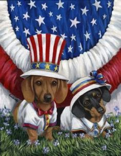 Patriotic Dachshunds