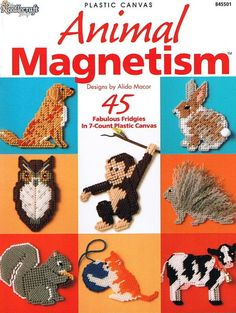 Free Plastic Canvas Magnet Patterns | ANIMAL MAGNETISM Plastic Canvas Pattern…