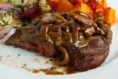 Steak Tenderloin in a Mushroom and Blue Cheese Sauce by closetcooking #Beef #Mushroom #Blue_Cheese