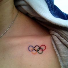 I got my Olympic Rings tattoo! Thank you @devereuxtaylor and Victoria for coming…