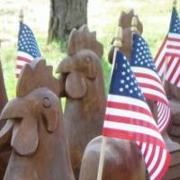 Patriotic Chickens