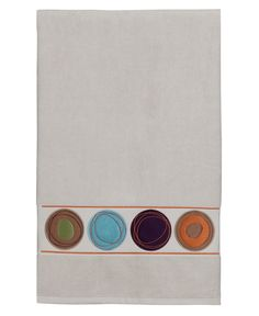 Dot Swirl Embroidered Bath Towel