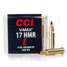 CCI 17 HMR Ammo - 50 Rounds of 17 Grain V-MAX Ammunition #17HMR #17HMRAmmo #CCI #CCIAmmo #CCI17HMR #VMax