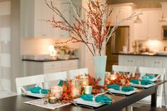 Fall table scape decor inspiration