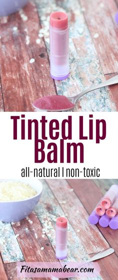 Skip store-bought and make your own. This tinted lip balm recipe is an easy DIY made with all-natural ingredients #lipgloss #chapstick #allnatural #skincare #diy Homemade Lip Balm, Diy Lip Balm, Tinted Lip Balm, Lip Tint, Homemade Gifts, Lip Balm Recipes, Natural Parenting, Natural Skin Care, Natural Beauty