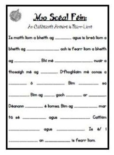 Scríbhneoireacht: An Caitheamh Aimsire is Fearr Liom Teaching Displays, Gaelic Words, Irish Language, Primary Teaching, Lesson Plans, Worksheets, Poems, Self, Classroom
