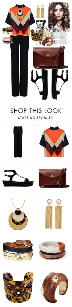 """""""Power Colors"""" by glamourgrammy on Polyvore featuring STELLA McCARTNEY, Mulberry, Valentino, The Cambridge Satchel Company, Tory Burch and Dinosaur Designs"""