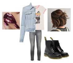 """""""clothes 266"""" by bellskids on Polyvore featuring Current/Elliott, Gucci, J Brand and Dr. Martens"""