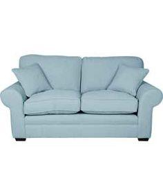 Olivia Large Sofa - Sky Blue.