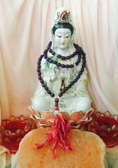 Purple Prayer beads Kwan Yin Buddhist Prayer by TriquetraBoutique Buddhist Meditation, Buddhist Prayer, Yoga Meditation, Meditation Supplies, Prayer Beads, Prayers, Princess Zelda, Purple, Handmade