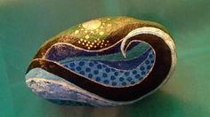 The wave handgeschilderd op steen