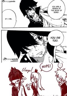 Fuck you Zeref. DON'T BE SO SUICIDAL! GO TO MAVIS AND LIVE A HAPPY LIFE YOU ASSHOLE!