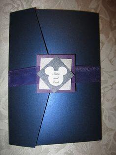Disney themed wedding invitation