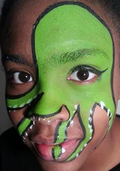 #Facepaint: Green Sea Monster