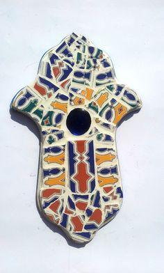 חמסה ענק פסיפס מקרמיקה מרוקאית אוטנתי   סילבינה עיצובים   מרמלדה מרקט