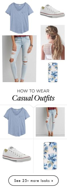 """Casual Day"" by syds-fashion-4-ever on Polyvore featuring H&M, Converse, American Eagle Outfitters and Sonix"