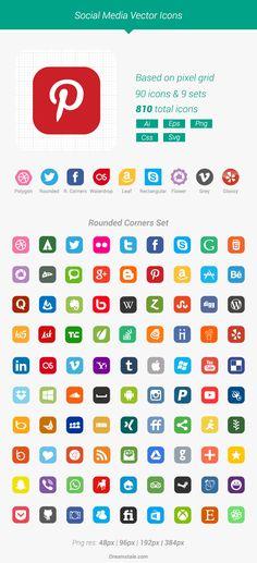 Social Media Vector Icons (Freebie) on Behance