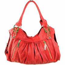 Fuschia Distorted Leather Bosalina Tote Handbag