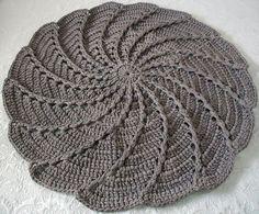 Tapete Crochê Fio de Malha Espiral | Atelier Art Nat | Elo7