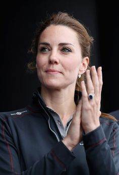 Kate Middleton Photos - Catherine, Duchess of Cambridge is seen on stage at the America's Cup World Series on July 24, 2016 in Portsmouth, England. - Duke And Duchess Of Cambridge At America's Cup World Series