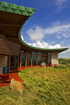 Frank Lloyd Wright-Designed Home in Hawaii.    I'll share some of them here, either in separate posts or as comments within the thread of this post. I haven't yet decided which method to use.    Byline follows for this particular photo...    BILL ADAMS | NORTH HAWAII NEWS    The front of this Frank Lloyd Wright-designed home offers spectacular views of Mauna Kea, Mauna Loa, Hualalai, and the beautiful Kohala coast.