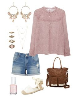 """Untitled #366"" by kmysoccer on Polyvore featuring Oasis, MANGO, Carolee, Charlotte Russe, New Look, T-shirt & Jeans, Forever 21 and Essie"