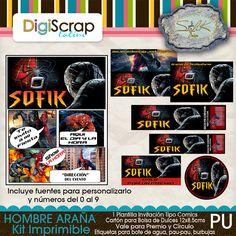 Kit Imprimible del Hombre Araña http://digi.scraplatino.com/index.php?main_page=index&manufacturers_id=14&zenid=onVCHJI9dLU8LJq0bNtHD3