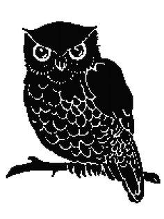 Owl Silhouette Blanket Pattern