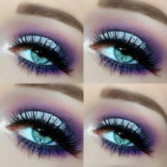 Purple and light blue are such a great combo!