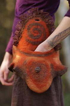 Sundance Geist Gürtel /Pocket aus Merinowolle mit von SolMundoArt
