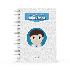 Cuaderno - Las notas del entrenador, encuentra este producto en nuestra tienda online y personalízalo con un nombre. Notebook, Dietitian, Notebooks, Report Cards, Training, Store, Brother, The Notebook, Exercise Book