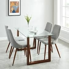 Shop for 5 Pc Contemporary Dining Set. Get free delivery On EVERYTHING* Overstock - Your Online Furniture Shop! Glass Dining Room Table, Kitchen Dining Sets, 5 Piece Dining Set, Dining Table Design, Table Seating, Upholstered Dining Chairs, Dining Furniture, Contemporary Dining Sets, Breakfast Nook Dining Set