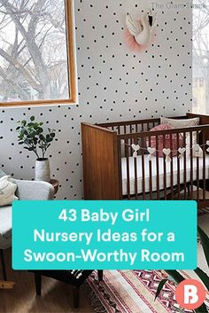 Looking to plan a stunning space for your daughter? Get inspired by these baby girl nursery ideas. Nursery Themes, Nursery Room, Girl Nursery, Nursery Ideas, Room Ideas, Baby Furniture, Color Inspiration, Cribs, Boy Or Girl