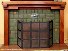 Craftsman style fireplace mantel