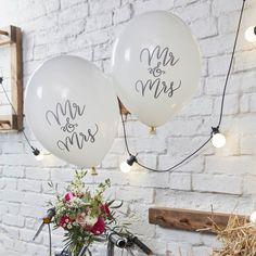 Mr & Mrs ballonnen Boho (10st) Ginger Ray