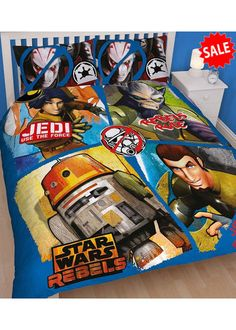 Star Wars Rebels Tag Double Size Doona Cover and Pillowcase Set Kids Bedroom Accessories, Double Duvet, Baby Nursery Bedding, Star Wars Rebels, Panel, Fun Learning, Activities For Kids, Pillow Cases, Stars