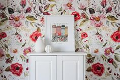 Create a vintage summer vibe with our beautiful little gypsy floral wallpaper. The removable wallpaper design is the perfect way to create a feature wall in your baby nursery, kids bedroom or home, and will dress up any room instantly! Stick On Wallpaper, Wallpaper Size, Self Adhesive Wallpaper, Vintage Floral Wallpapers, Smooth Walls, Textured Walls, Designer Wallpaper, Kids Bedroom, Gypsy