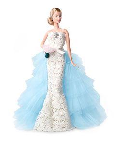 Barbie in Oscar de la Renta's wedding dress