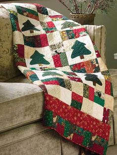Xmas Nine Patch quilt