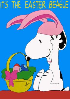 Snoopy~It's the Easter Beagle Peanuts Cartoon, Peanuts Snoopy, Charlie Brown Und Snoopy, Charlie Brown Easter, Snoopy Und Woodstock, Snoopy Images, Easter Wallpaper, Snoopy Quotes, Jokes
