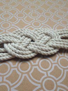 Nautical Knot Bracelet / Nautical Rope Bracelet by TopShelfCrafts