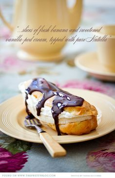 Banana and Vanilla Cream Eclairs with Nutella |  The Pretty Blog