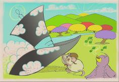 Ilustração feita por Verônica Silva de Souza Saiki para o livro O Flautista de Hamsterland  da escritora Ane Braga.