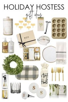 Holiday hostess gift guide including kitchen tools home decor and more. Holiday hostess gift guide including kitchen tools home decor and more. Christmas Gift Guide, Great Christmas Gifts, Holiday Gifts, Christmas Mantles, Christmas Christmas, Christmas Ornaments, Shabby Chic Christmas Decorations, Gift Guide For Him, Easy Diy Gifts