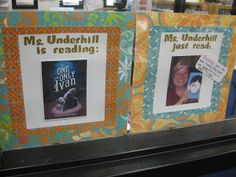 Three Ring Library: What are you reading? Reading Display, Library Book Displays, Middle School Libraries, Elementary School Library, Library Lesson Plans, Library Lessons, Library Inspiration, Library Ideas, Library Activities